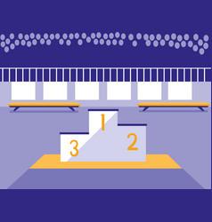 championship podium scene icon vector image