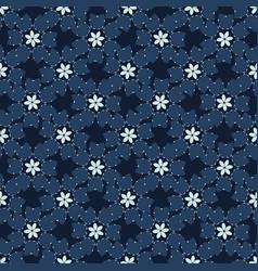 Christmas indigo blue winter floral seamless vector