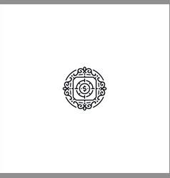 Circle ornament logo design template concept vector