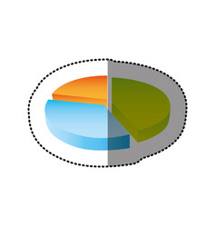 color circular statistic graph icon vector image