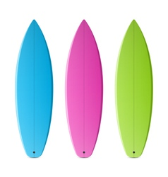 Colored surfboards vector image