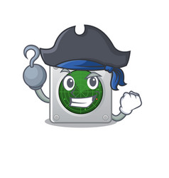 Cool and funny radar cartoon style wearing hat vector