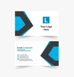 Corporate business card design vector