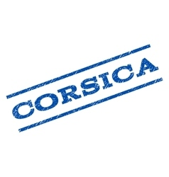 Corsica Watermark Stamp vector