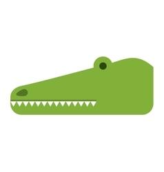 Cute crocodile isolated icon design vector