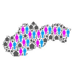 Demographics slovakia map vector