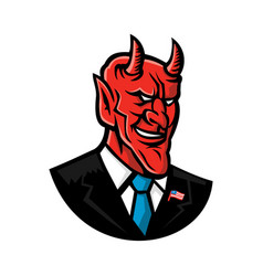 Devil american businessman mascot vector