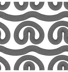Dotted texture black stripes Seamless pattern vector