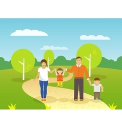 Family Outdoors vector image