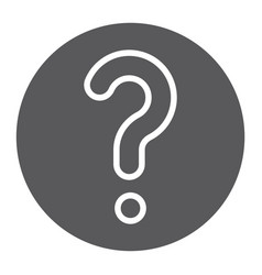 Faq glyph icon question and help ask sign vector
