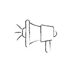 Figure megaphone tool to speaker communication vector
