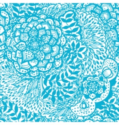 Floral doodle seamless wallpaper pattern vector image