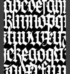 Font pattern medieval gothic european modern vector