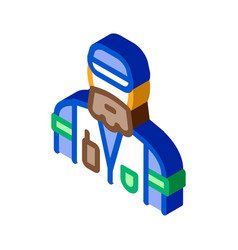 Forester man isometric icon vector