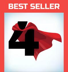 Four in red hero cape super cloak super power vector