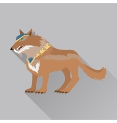 Game Wolf Avatar Icon Isolated on White vector