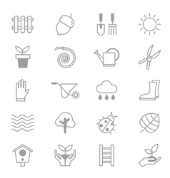 Garden and Tools Icons Line Set Of copy vector