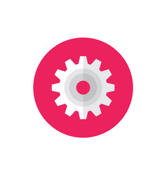 gear cogwheel - concept colored icon in flat graph vector image