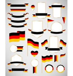 Germany flag decoration elements vector image
