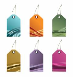 gradient tags vector image vector image