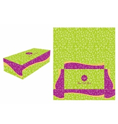 Green and Violet Cake Box vector image