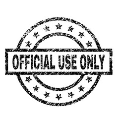 Grunge textured official use only stamp seal vector