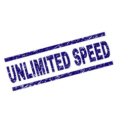 Grunge textured unlimited speed stamp seal vector