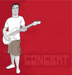 Guitarist and concert graphic vector