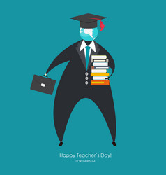 happy teachers day concept background vector image
