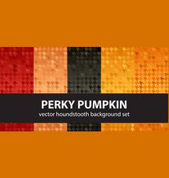 Houndstooth pattern set perky pumpkin seamless vector