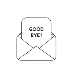 Icon concept envelope with good bye paper vector