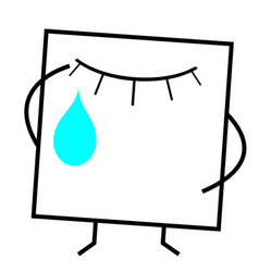 Icon crying face vector