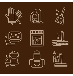 Icons Cleaning vector