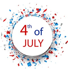 Independence Day round background vector