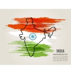 India map in national flag tricolors Abstract vector