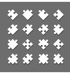 Individual jigsaw pieces vector