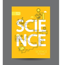 infographic science concept vector image
