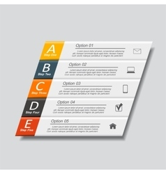 Infographic template with place for your data vector image