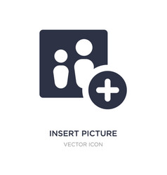 Insert picture icon on white background simple vector