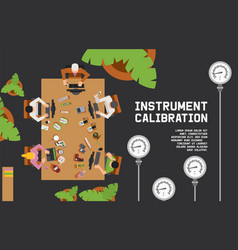 Instrument calibration measuring device vector