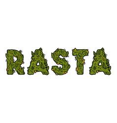 Lettering design weed inscription natural rasta vector