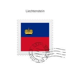 Liechtenstein Flag Postage Stamp vector