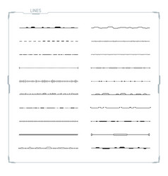 Lines set for hud ui abstract elements vector