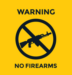 No guns sign with automatic rifle vector