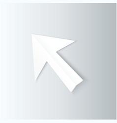 Paper arrow cursor in perspective vector