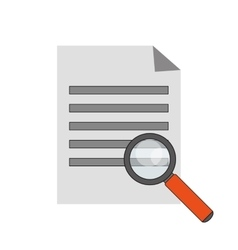 Paper document and computer icon vector