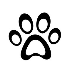 paw clip art vector image