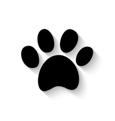 Paw print with shadow vector