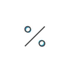 percent icon design essential icon vector image