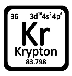 Periodic table element krypton icon vector